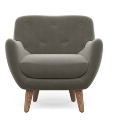 Hermann chair in velour Fungi from Sofacompany.com