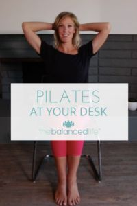 "A quick ""Pilates At Your Desk"" routine to help you reduce tension, stretch and sneak some exercise into your busy work day. Stretches you can do at your desk to feel your absolute best! Pilates Chair, Pilates Reformer Exercises, Pilates Barre, Pilates Training, Pilates Video, Pilates For Beginners, Pilates Instructor, Pilates Studio, Beginner Pilates"
