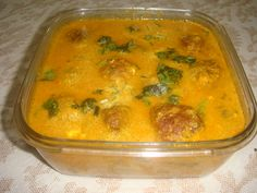 Lauki kofta Lauki Kofta, Oil For Deep Frying, Gram Flour, Indian Curry, Red Chilli, Curries, Gourds, Cooking Time, Vegetarian