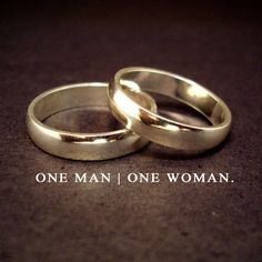 Marriage is a sacred covenant between one man and one woman. God is the Creator of marriage and in doing so, defined it as such. Today's culture is constantly trying to redefine it and belittle the covenant to no more than a social contract.
