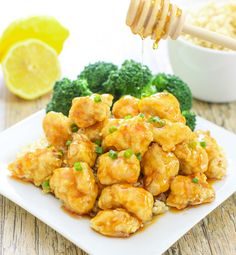 ~BAKED CRUNCHY HONEY LEMON CHICKEN