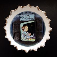 """Vintage Collectible Plate, """"Wish Upon A Star"""""""