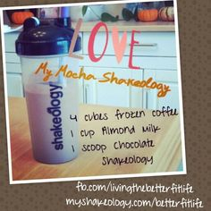 Mocha Shakeology! Healthy mocha!  To try Shakeology, click on the link below to order a 30 day supply today! www.myshakeology.com/betterfitlife