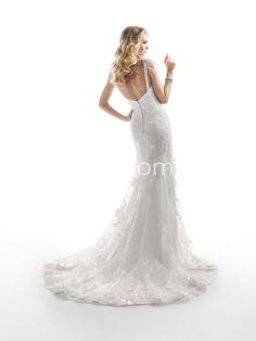US $209.99 2014 New Style V-Neck Lace Wedding Dresses