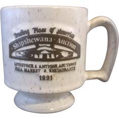 Shipshewana Auction Indiana Onion River Pottery Stoneware Mug 1991