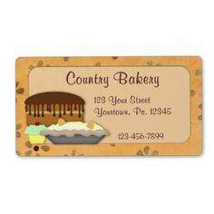 Country Bakery Label
