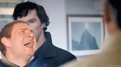 Sherlock's face in this one is perfect!