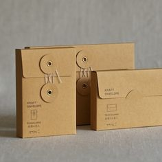 KRAFT STRING & BUTTON ENVELOPES - MUSH HOME