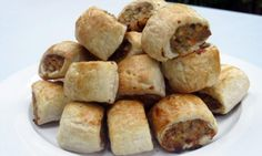Healthy vegetable and chicken sausage rolls
