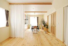 親世帯のキッチンと寝室は、カーテンの間仕切りで別空間に! #ldk #igstylehouse #アイジースタイルハウス