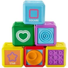 Fisher-Price Laugh & Learn First Words Shape Blocks - Walmart.com