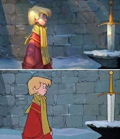 Artist Breathes New Life Into Old Disney Scenes By Painting Over Them | Sword in the Stone