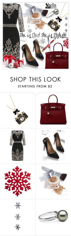 """She is Chic"" by selmagorath ❤ liked on Polyvore featuring Betsey Johnson, Hermès, Christian Dior and East of India"