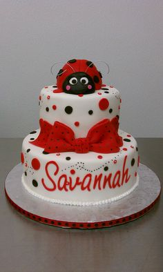 Lady Bug Baby Shower Cake by Little Sugar Bake Shop, via Flickr