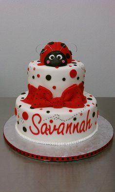 lady bug baby shower cake by little sugar bake shop via flickr