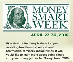 Join us April 23-30 for Money Smart Week! We'll be providing free financial, educational information, seminars, and activities. Learn about budgets, credit reports, financial recovery, borrowing money, credit cards, and more.