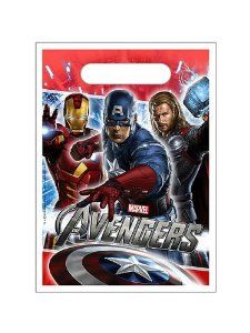 Marvel The Avengers Super Hero Treat Sacks 8pk by Hallmark. $2.99. Send your superhero party guests home with our Avengers Loot Bags! Avengers favor bags feature Thor, Captain America and Iron Man with a built-in handle. Fill our Avengers favor bags full of superhero favors and Avengers toys for happy superheor party guests!