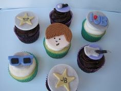 more Justin Bieber cupcakes by D'vyne Confections
