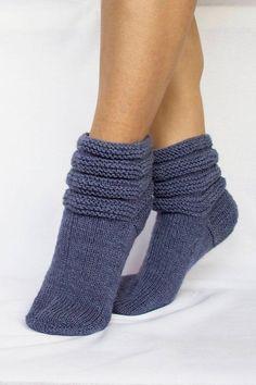 Items similar to Knitted socks home socks socks slippers wool socks warm socks winter socks blue socks beautiful winter accessory for women. on Etsy Crochet Leg Warmers, Knitted Slippers, Wool Socks, Knit Mittens, Crochet Slippers, Knitting Socks, Knitting Machine, Slipper Socks, Crochet Shoes Pattern