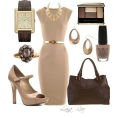 Beautiful tonal nude and brown - so classy my-style