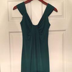 Green London times dress Green London times dress. Size 8. Slinky type dress looks great on body. London Times Dresses Midi