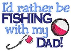 Fishing with Dad (TIM527T7_VAR_3) Embroidery Design by Grand Slam Designs