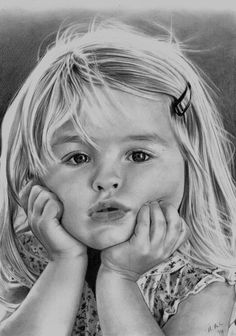 "Artwork by Metalmaria1 @deviantart.com. ""Little Girl2"". Adult Coloring"