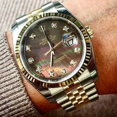 Wonderful black mother of pearl DATEJUST 36 Ref 116233 is dedicated to @fbwatc... | http://ift.tt/2cBdL3X shares Rolex Watches collection #Get #men #rolex #watches #fashion