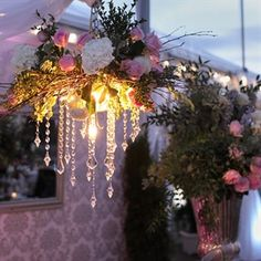 #Evening #Wedding #Lighting Love the romantic lighting