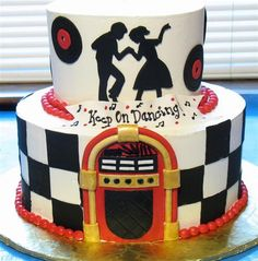 50s Cake Sid & susie 50's style 50th