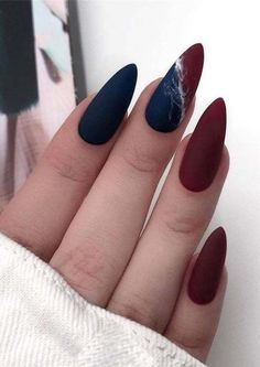 and Hottest Matte Nail Art Designs Ideas 2019 elegant almond matte nails design ideas; almond nails The post and Hottest Matte Nail Art Designs Ideas 2019 & Style appeared first on Fall nails . Matte Almond Nails, Long Almond Nails, Matte Nail Art, Long Nails, Short Nails, Nail Art Blue, Fall Almond Nails, Almond Nail Art, Almond Nails Designs