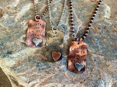 I carry you in my heart copper with sterling by RockinJ9designs, $33.50