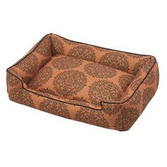 Jax & Bones Lounge Bed in Milan Orange Premium Cotton Blend    - available at www.maxandcocoa.com