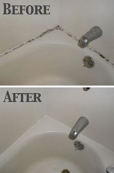 Getting Mold Out Of The Shower Easily. Our bathroom often gets much mold because of the moisture over time. Here I found an awesome tip on how to get rid of it easily. See the detailed directions via