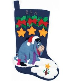 Eeyore's Xmas Stocking Felt Applique Kit