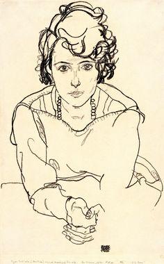 Egon Schiele -Seated Woman Art Print by favoritepaintingsart - X-Small Life Drawing, Figure Drawing, Drawing Reference, Painting & Drawing, Franz Kline, Willem De Kooning, Dancing Drawings, Art Drawings, Contour Drawings