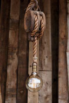 Lensemble suspension voile grange en bois rustique poulie | Etsy
