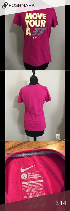 Nike Slim Fit T-Shirt Size Large Pink Nike slim fit t-shirt. Made of 100% cotton. Nike Tops Tees - Short Sleeve