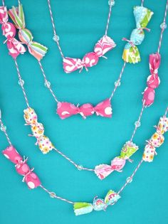 Vintage Candy Garland 8 feet by OohLaLollipop on Etsy