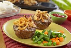 You won't be able to resist these mini meatloaves baked in muffin-pan cups. Ground beef, cream of mushroom soup, French fried onions and Worcestershire combine for a super-flavorful meatloaf mixture. They're kid-friendly, easy to prepare and guaranteed to become a family favorite.