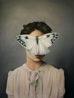 #London #artist #AmyJudd beautifully explores the relationship between woman and winged creatures that has been the subject of many a myth and tale.