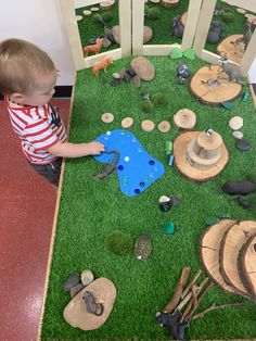 Train table hack- turned into a small world table using Australian animals from Modern Teaching aids Play Based Learning, Home Learning, Toddler Activities, Animal Activities, Train Table, Small World Play, Play Table, Australian Animals, Special Needs Kids