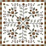 Winter Berries; free cross stitch pattern
