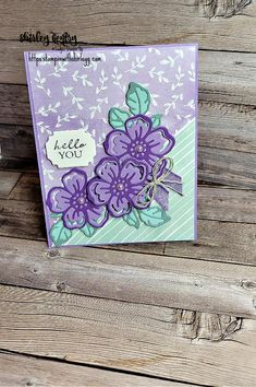 Stampin' Up! Shaded Summer Hello There – Stampin with Shirley G Leaf Outline, Flower Outline, Poppy Cards, Create Your Own Card, Parts Of A Flower, Scrapbook Cards, Scrapbooking, Stamping Up Cards, Creative Cards