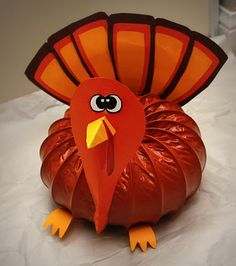 DIY turkey center piece from a dryer vent, - Thanksgiving Decorations Diy Thanksgiving Diy, Thanksgiving Centerpieces, Autumn Crafts, Holiday Crafts, Holiday Decor, Holiday Ideas, Fall Projects, Craft Projects, Craft Ideas