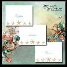 Starfish Note Cards / 10 Notecards / Beach / Sea Life / Seashell / Starfish Stationery / Made to Order