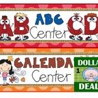 Add color to your room with these fun center signs. There are 17 total, and one blank sign for you to customize included in the set.  Please FOLLOW...