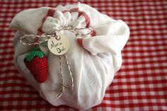 homemade gift wrap by molly dunham, via Flickr