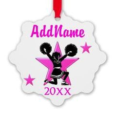 http://www.cafepress.com/sportsstar.935293912 Personalized and dated Cheerleader Christmas ornament #Cheerleader #Cheerleading #Cheering #Cheerleadingteam #Lovetocheer #Borntocheer #Cheerleadinggift #Cheerleadergift #Cheerleaderornament #Cheerleadergift