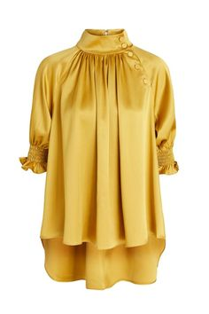 Plain Button Puff Sleeve Mid-Length Half Sleeve Women's Blouse Plain Button Puff Sleeve Mid-Length Half Sleeve Women's Blouse Frock Fashion, Trend Fashion, Fashion Outfits, Frock Design, Ladies Dress Design, Pakistani Dresses Casual, Casual Dresses, Half Sleeve Women, Sleeves Designs For Dresses
